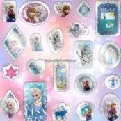 Disney Frost glitterklistermärken - 12 ark