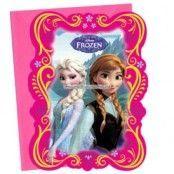 Disney Frost inbjudningskort - 6 st