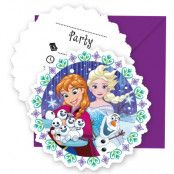 Frost Snowflakes Inbjudningskort