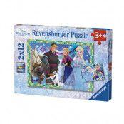 Ravensburger Pussel Disney Frozen Vinterspelen 2x12-bitar