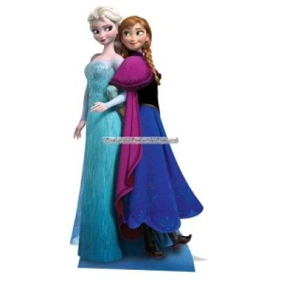 Disney Frost Anna och Elsa pappfigur - 162cm