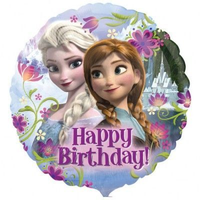 Frost Happy Birthday Folieballong