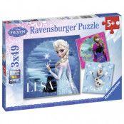 Ravensburger Pussel Disney Frozen Elsa, Anna&Olaf 3x49-bitar