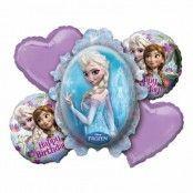 Ballongbukett Frost / Frozen - 5-pack