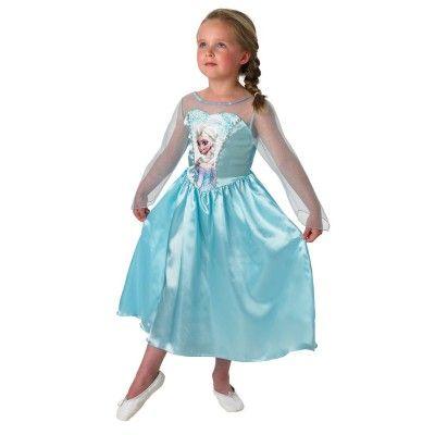 Frost Elsa Barn Maskeraddräkt (Small (3-4 år))