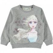name it Frozen Malula Tröja (Grey Melange)