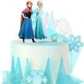 Sockerdekoration Frost Elsa och Anna